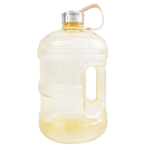 1 Gallon BPA Free Water Bottle w/ Stainless Steel Cap - Yellow - Yellow / 1 Gallon / BPA Free Plastic - Yellow / 1 Gallon / BPA Free Plastic