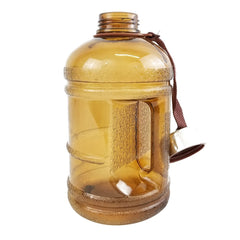 Drinking Water Bottle with Stainless Steel Cap - Brown