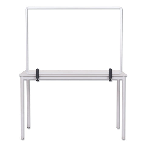 MasterVision Protector Series Glass Aluminum Desktop Divider, 35.4 x 0.16 x 23.6, Clear