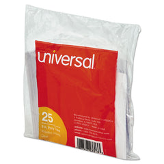 "Universal Hanging File Folder Plastic Index Tabs, 1/3-Cut Tabs, Clear, 3.5"" Wide, 25/Pack"
