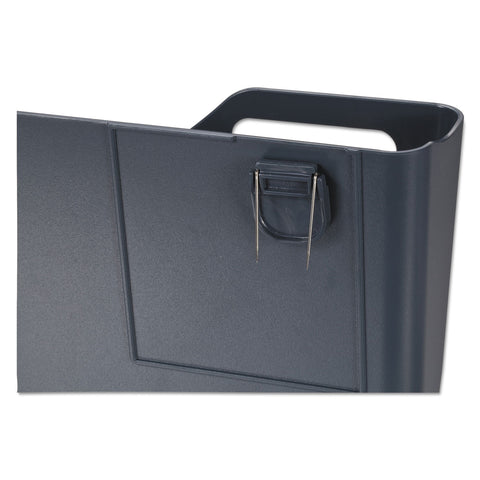Universal Recycled Plastic Cubicle Single File Pocket, Black