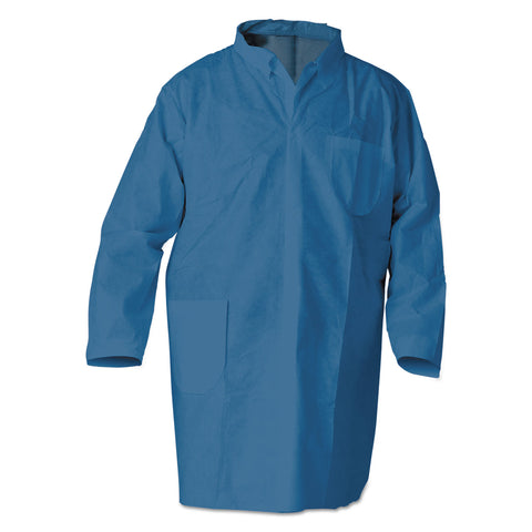 KleenGuard A20 Breathable Particle Protection Professional Jacket, Large, Blue, 15/Carton