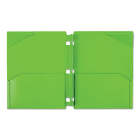 Five Star Snap-In Plastic Folder, 20 Sheets, 8 1/2 x 11, Assorted, Snap Closure, 2/Set