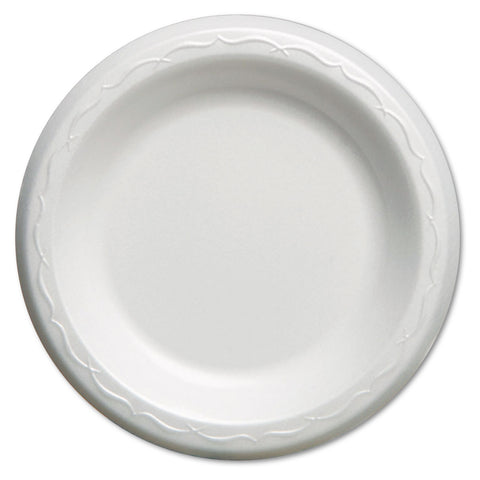 Elite Laminated Foam Plates, 6 Inches, White, Round, 125/Pack, 8 Pack/Carton