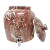 2.5 Gallon Porcelain Crock With Matching Lid, Ring and Faucet- Maroon Blend