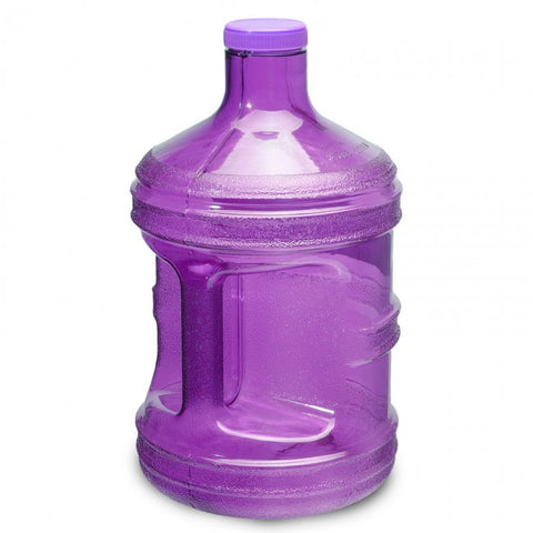 1 Gallon Polycarbonate Round Water Bottle - Purple