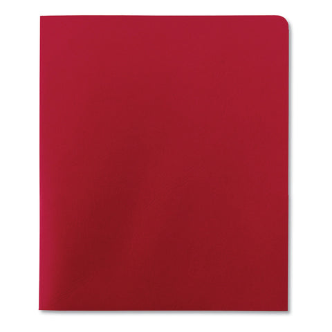 Smead Two-Pocket Folder, Textured Paper, Red, 25/Box - Red / 11 x 8 1/2