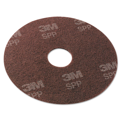 "Scotch-Brite Surface Preparation Pad, 17"" Diameter, Maroon, 10/Carton"