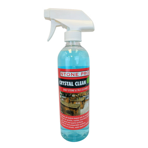 Stone Pro Crystal Clean - Daily Stone And Tile Cleaner - Ready To Use (RTU)  - 16 Oz. Spray