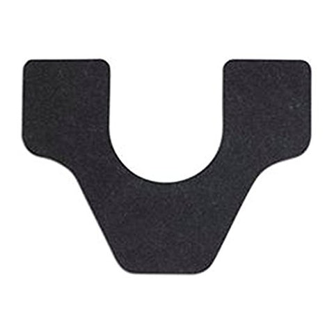 Wizkid Antimicrobrial Commode Cut Urinal Mat Black