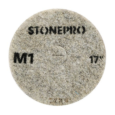 "Stone Pro 17"" Diamond Impregnated Pads M1-800 Grit - Floor Polishing Systems - 17"" / DIP / M1"