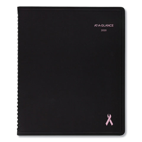 AT-A-GLANCE QuickNotes Weekly/Monthly Appointment Book, 8 x 10, Black/Pink, 2020 - Pink/Blue / 8 x 10