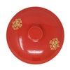 2.5 Gallon Porcelain Crock With Matching Lid, Ring and Faucet- Royal Red and Gold