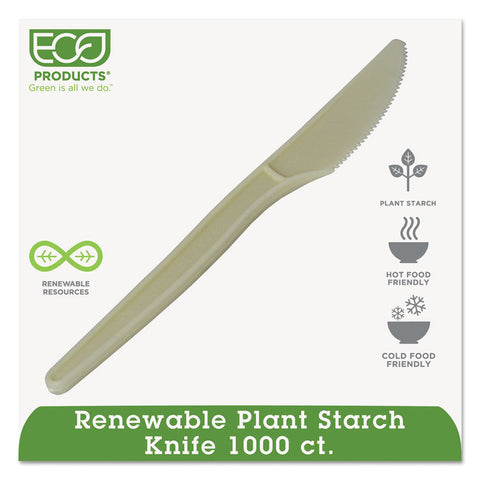 "Eco-Products Plant Starch Knife - 7"", 50/PK, 20 PK/CT"