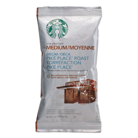 Starbucks Coffee, Pike Place Decaf, 2 1/2 oz Packet, 18/Box