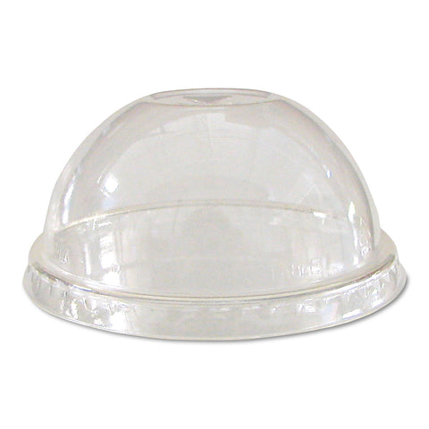 Eco-Products GreenStripe Renew & Comp Cold Cup Dome Lids, Fits 9-24oz., 100/PK, 10 PK/CT - Clear