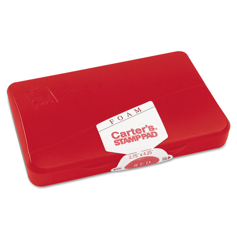 Carter's Pre-Inked Foam Stamp Pad, 4.25 x 2.75, Red