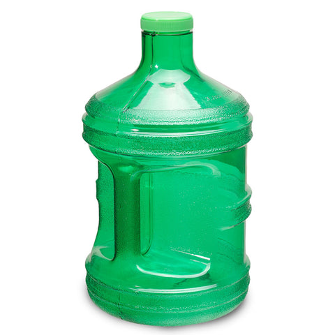 1 Gallon BPA Free Round Drinking Water Bottle - Green - Green / 1 Gallon / BPA Free Plastic