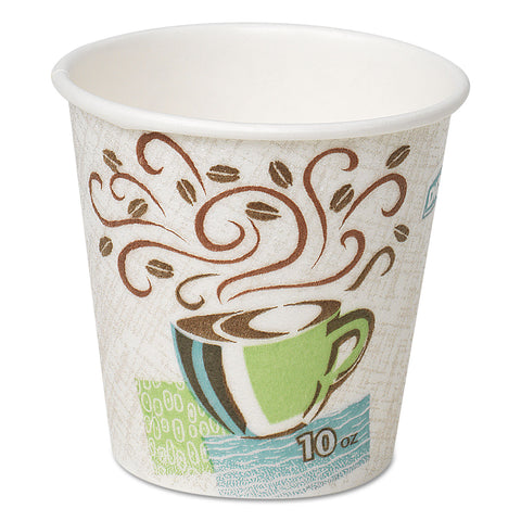 Dixie Hot Cups, Paper, 10oz, Coffee Dreams Design, 25/Pack