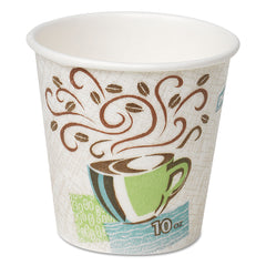 Hot Cups, Paper, 10oz, Coffee Dreams Design, 25/Pack