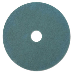 "Boardwalk Aqua Burnishing Floor Pads, 21"" Diameter, 5/Carton - Aqua"