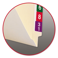 "Smead Heavyweight Manila End Tab Folders, 9"" Front, Straight Tab, Letter Size, 100/Box - Manila / Letter"