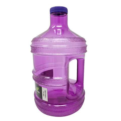 1 Gallon BPA Free Round Drinking Water Bottle - Purple - Purple / 1 Gallon / BPA Free Plastic