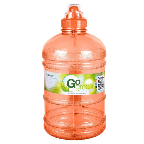 Water Bottle with Sports Top – Orange