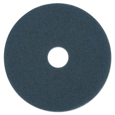 "Boardwalk Scrubbing Floor Pads, 13"" Diameter, Blue, 5/Carton"