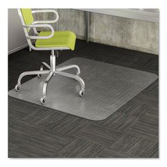 deflecto EconoMat Occasional Use Chair Mat for Low Pile Carpet, 45 x 53, Rectangular, Clear - Clear / No Lip