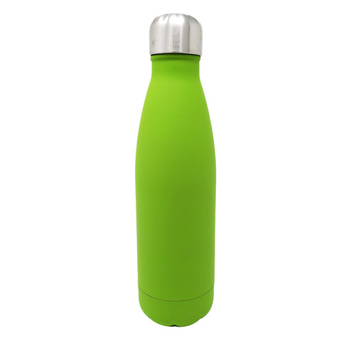 17 oz Double Wall 18/8 Pro-Grade Stainless Vacuum Sealed Slim Water Bottle with Leak-Proof Stainless Cap  | Great For Alkaline Water Storage - Green