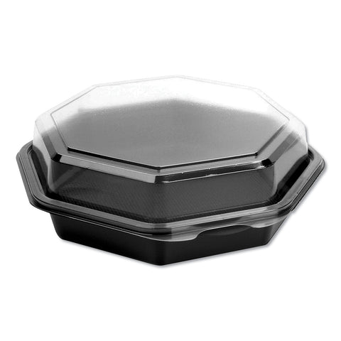 Dart OctaView CF Containers, Black/Clear, 21oz, 7.94w x 7.48d x 2.36h, 100/Carton