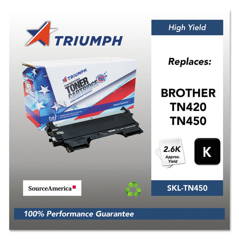 Triumph 751000NSH1072 Remanufactured TN450 High-Yield Toner, 2,600 Page-Yield, Black