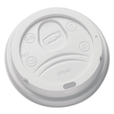 Dixie Sip-Through Dome Hot Drink Lids for 10 oz Cups, White, 100/Pack