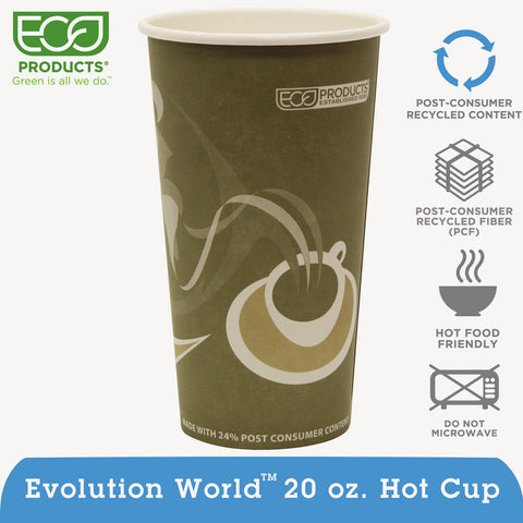 Evolution World 24% Recycled Content Hot Cups Convenience Pack - 20oz., 50/PK