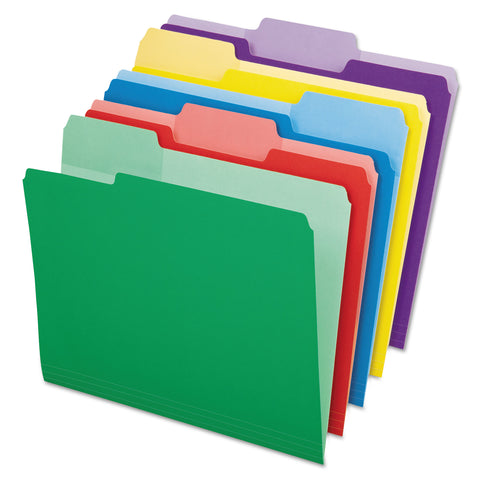 Pendaflex File Folders with Erasable Tabs, 1/3-Cut Tabs, Letter Size, Assorted, 30/Pack