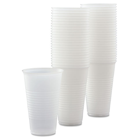Dart Conex Galaxy Polystyrene Plastic Cold Cups, 16oz, 50 Sleeve, 20 Bags/Carton - Translucent