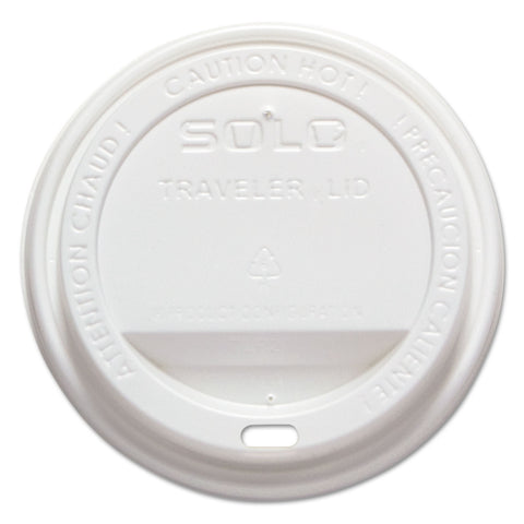 Dart Traveler Drink-Thru Lid, Fits 10-24 oz Cups, White, 1000/Carton - White