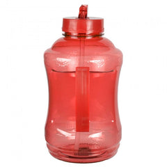 Water Bottle with Drinking Straw - Red