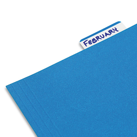 "Post-it Tabs 2"" and 3"" Tabs, Lined, 1/5-Cut Tabs, Blue, 2"" Wide, 50/Pack"