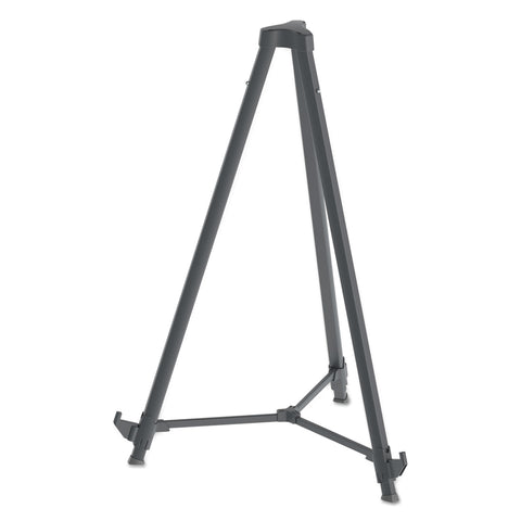"MasterVision Quantum Heavy Duty Display Easel, 35.62"" - 61.22""H, Plastic, Black - Black / 37.7"""