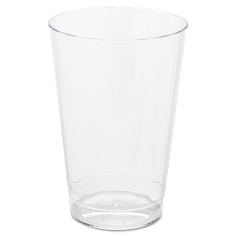 WNA Classic Crystal Plastic Tumblers, 12 oz, Clear, Fluted, Tall