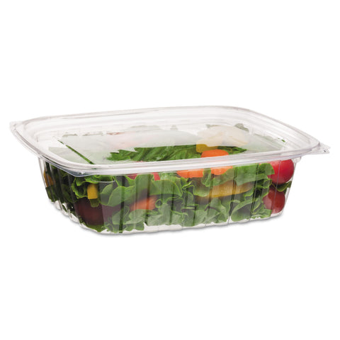 Eco-Products Renewable and Compostable Rectangular Deli Containers, 48 oz, 50/Pack, 4 Packs/Carton - Clear