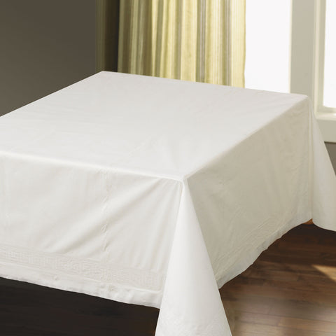"Hoffmaster Tissue/Poly Tablecovers, Square, 82"" x 82"", White, 25/Carton"