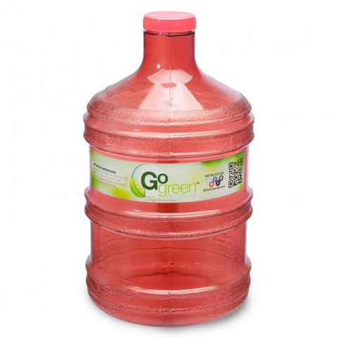 1 Gallon Polycarbonate Round Water Bottle - Red