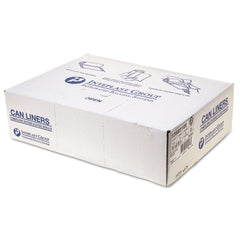 "Inteplast Group High-Density Interleaved Commercial Can Liners, 55 gal, 14 microns, 36"" x 60"", Clear, 200/Carton"