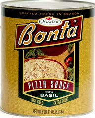 Bonta High Yield Extra Sweet Pizza Sauce with Basil No. 10 Can - 6 LB 11 OZ - (Case of 6)