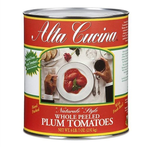 Alta Cucina Whole Plum Tomatoes #10 - Single Can | For Your Water