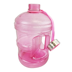 Water Bottle with Stainless Steel Cap - Pink