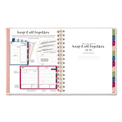 AT-A-GLANCE Harmony Weekly/Monthly Hardcover Planner, 9 x 7, Pink Marble, 2020-2021